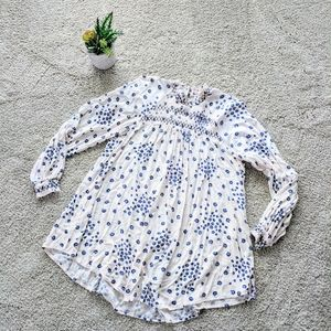 Free People Long Sleeve Floral Cluster Blouse